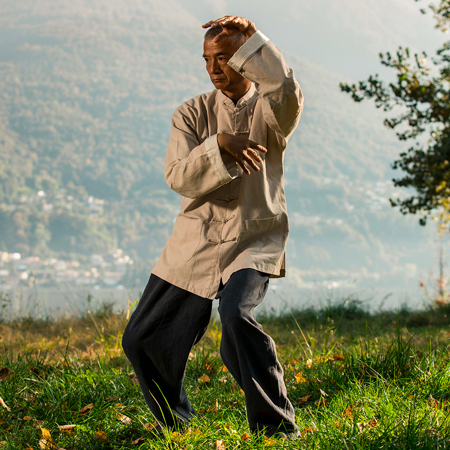 Il maestro Wang pratica Qigong 01